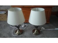 Pair of Wilko Swirl lamps