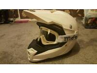 Mt motocross helmet L/Xl with goggles