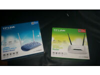 2 x TP LINK ROUTERS - OPEN BOX BUT UNUSED - BARAGIN BOTH FOR £15