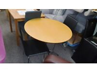 Julian Bowen Mandy Table & 2 Mandy Black Leather Dining Chairs Can Deliver