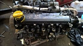 Renault 1.5 dci head with injectors and pump
