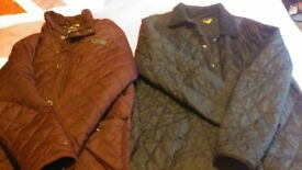 Two XL Quilted Jackets. (Different Styles).