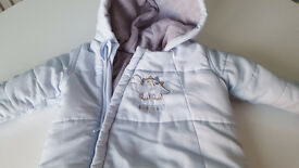 Snowsuit Mothercare - light blue 3-6 months