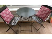 Bistro Table and Chairs Set, Steel Grey (bought from John Lewis)