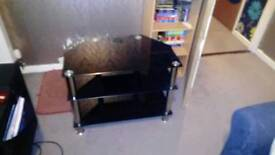 Grass black TV unit