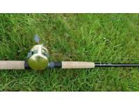 Pike jerkbait rod and reel