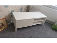 TV cabinet, white, nearly new, bought from John Lewis