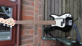 Encore Bass Guitar and practice amp