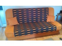 Sofa bed with storage box in very good used condition