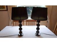 KIPFOLD BLACK METAL BALL DESIGN TABLE LAMPS x 2