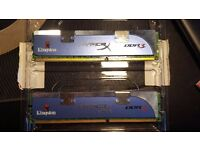 Kingston Hyperx 4GB (2 x 2GB) DDR3 Desktop RAM Memory - KHX1600C9AD3K2/4G