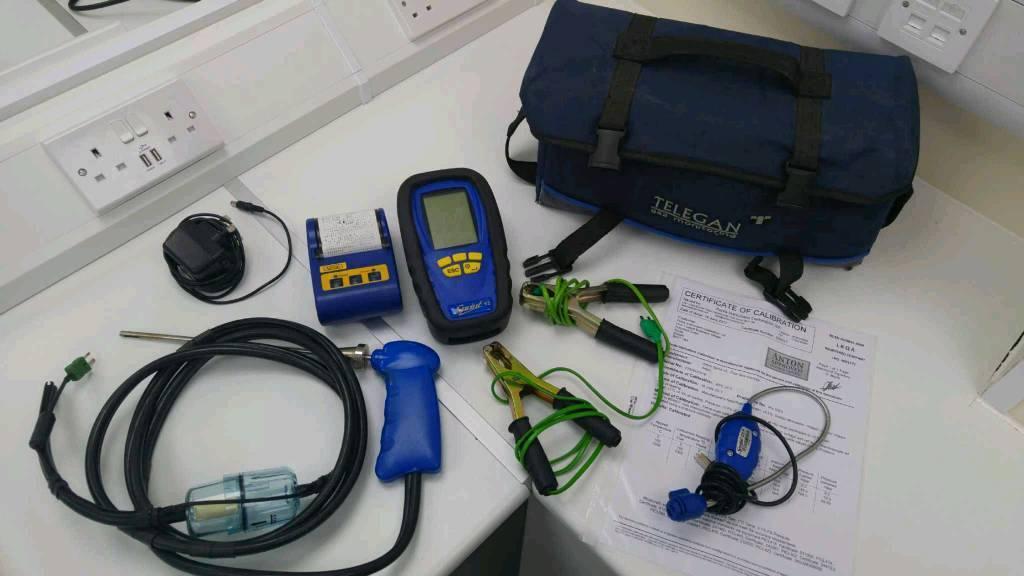 Anton v2 flue gas analyser, with printer