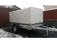 New car trailer (one time used )8.6 x 4.1 (263cm x 125cm)
