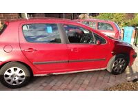 Peugeot 307 1.4 hdi. Cheap tax long MOT