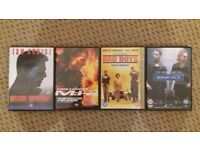 4 X Film DVD's : Bad Boys, Miami Vice, Mission Impossible & Mission Impossible 2. Excellent. Used.