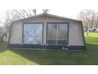 Isabella Ambassador Moonlight awning, Carbon X poles, Size A900, Sand and Blue