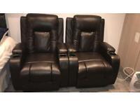 Push back recliner seats