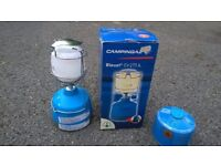 Camping Gaz Bleuet CV270L light with stand and gas cylinder (half-full). Good condition.