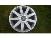 18 X 8 H2 VW AUDI RS4 RS6 S3 TT ALLOY WHEELS IN EXCELLENT CONDITION