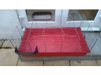 GUINEA PIG,RABBIT CAGE 1000 X 500 X 400 HIGH. IDEAL LARGE CAGE FOR KEEPING YOUR PETS IN OVER NIGHT.