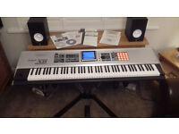 Roland Fantom X8 , Yamaha HS50M Speakers , Roland Gig Stand , Roland Non Slip Sustain Pedal Unit