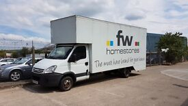 Iveco Daily LWB Luton dropwell van with 19ft body