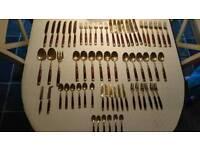 Solid Bronze 71 Piece Cutlery Set