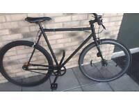 Black single speed bike