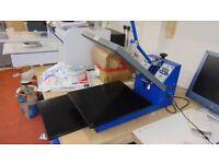 T shirt heat printing press