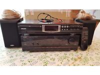 CD PLAYER- AMPLIFIER AND SPEAKERS