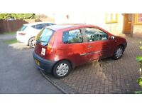 Fiat Punto 51 plate 1242cc 3dr red. Mot to Feb 2019 Only 44300 miles £625 ono