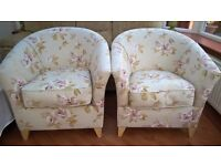 2 Tub Chairs - Good Condition