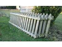Picket fence panel sections