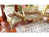 Conservatory furniture - wicker/rattan sofa and chair
