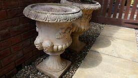 2 Ornamental Garden planters