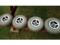 Mobility scooter wheels an tyres
