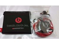 Genuine Monster Beats by Dr Dre iBeats In Ear Headphones Earphones Headset NEW+FREE DELIVERY