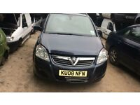 2008 Vauxhall Zafira Design Direct Mpv 2.2 Petrol Blue BREAKING FOR SPARES