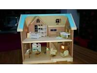 Sylvanian families country house and accessories