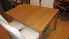 Extendable dinning table Bjusta, oak veneer 140/180/220x84 cm