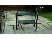 Habitat black metal 2 teir trolley
