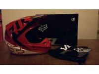 Fox V1 Motocross/Mountain Bike Helmet