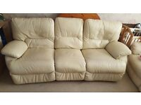 Leather 3 seater sofa. Delivery available