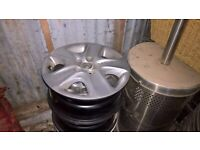 """Astra 16"""" Steel wheels with trims"""