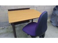 Table with Swivel chair for sale