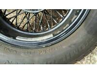 Set of spoke wheels