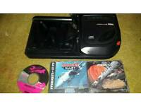 Sega mega cd power and megadrive 2 link lead and 3 games