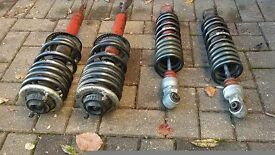 Audi S4 2.7 T Twin Turbo B5 1998 to 2001 Suspension Lowering Springs and Shocks with mounts