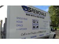 MAN WITH VAN Single items to Full house removals.Large luton van with taillift
