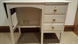 Small white extendable desk ideal upcycle project!